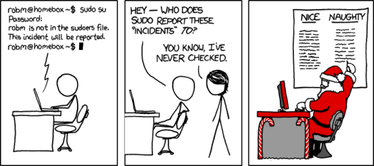 Now we know where sudo reports its incidents