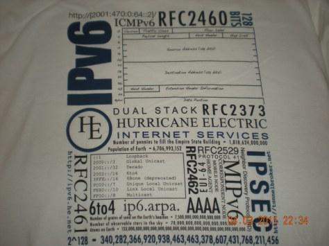 IPv6 Certified SAGE T-shirt