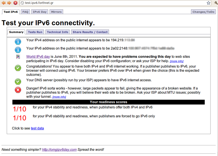 test.ipv6 with mtu 1500 - Problems!